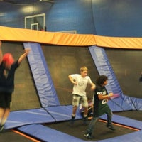Photo taken at Sky Zone Indoor Trampoline Park by Steve D. on 12/2/2012