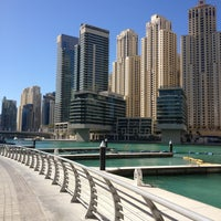 Photo taken at Dubai Marina Walk by Zulfiya T. on 12/30/2012