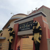 Photo taken at Revenge of the Mummy - The Ride by Emiliano L. on 4/7/2013