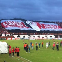 Photo taken at Estádio Arena Joinville by Felipe W. on 8/25/2012