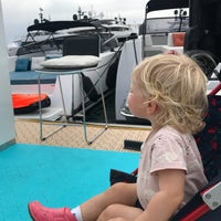 Photo taken at Cannes International Boat & Yacht Show by Madeleen D. on 9/13/2018