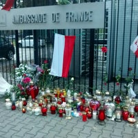 Photo taken at Ambasada Republiki Francuskiej by Anna on 11/14/2015