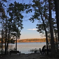 Photo taken at Burke Lake by Mark P. on 10/30/2016