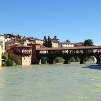 Photo taken at Ponte degli Alpini by Erica D. on 5/19/2013