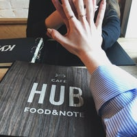 Снимок сделан в HUB cafe: Food&Note пользователем NK 1/8/2018