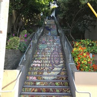 Photo taken at Hidden Garden Mosaic Steps by Milad A. on 7/10/2017