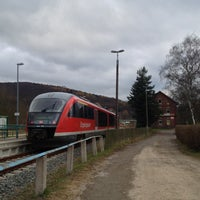 Photo taken at Bahnhof Olbernhau-Grünthal by Honza P. on 11/16/2014