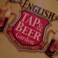 Photo taken at The English Tap & Beer Garden by Dorian W. on 10/7/2012