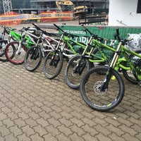 Photo taken at mysticfreeride bike rent by Alessandro B. on 8/11/2014