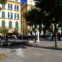 Photo taken at Plaza de la Merced by Jonas N. on 12/30/2012