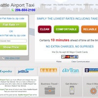 Photo taken at Flat Seattle Airport Taxi by Jasmine M. on 9/14/2014