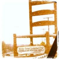 Photo taken at World's Tallest Ladderback Chair by Kathleen K. on 3/15/2014