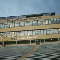 Photo taken at Brooks Field at Wallace Wade Stadium by Matthew T. on 2/12/2013
