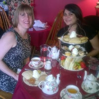 Photo taken at Elizabeth & Alexander's English  Tea Room by dimple on 2/14/2015