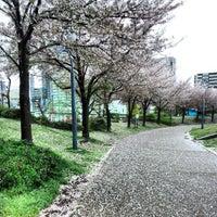 Photo taken at Ogimachi Park by Keita I. on 4/6/2013