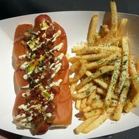 Photo taken at Dogzilla Hot Dogs Truck by Anthony B. on 6/26/2013