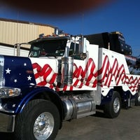 Photo taken at Spectrum Truck Painting by Dawn Y. on 9/18/2014