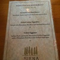 Photo taken at Siena Restaurant by Jodie on 8/25/2014