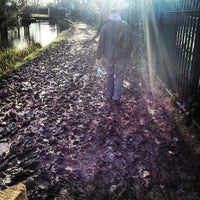 Photo taken at New River Path (East Harringay) by Lauren K. on 2/22/2014