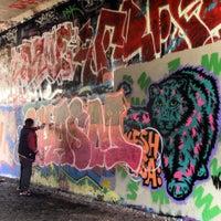 Das Foto wurde bei Parkland Walk (Finsbury Park to Crouch End Section) von Lauren K. am 3/23/2014 aufgenommen