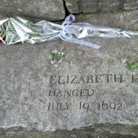 Photo taken at Salem Witch Trials Memorial by Becky K. on 10/7/2012