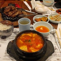 Photo taken at So Kong Dong Restaurant 소공동 순두부 by Ting Z. on 11/17/2012
