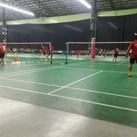 Photo taken at CC Badminton Court by Ppor on 7/28/2016