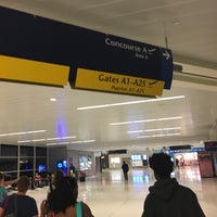 Photo taken at Concourse A by Axel L. on 7/20/2017