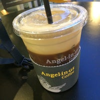 Photo taken at Angel-in-us Coffee by Jin nyung S. on 5/14/2015