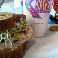 Photo taken at Sacks Sandwiches by Victoria J. on 9/15/2012