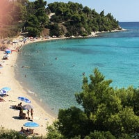 Photo taken at Kalogria Beach by Bengül S. on 8/31/2017