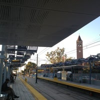 Photo taken at Expo Park/USC Metro Station by Randy B. on 1/17/2013