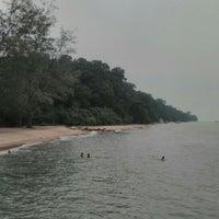 Photo taken at Pantai Tanjung Bidara by Mursyidul H. on 10/4/2015