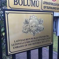 Photo taken at Letonya Büyükelçiliği by Ödül Y. on 12/8/2014