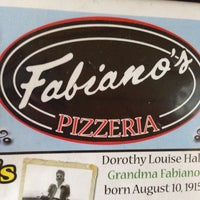 Photo taken at Fabiano's Pizzeria by Pam A. on 7/29/2014