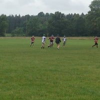 Photo taken at MHC Hurling Pitch by Melissa D. on 8/11/2013