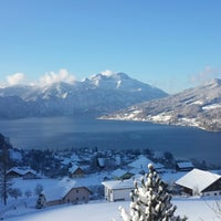 Photo taken at Steinbach am Attersee by Iryna S. on 1/18/2016
