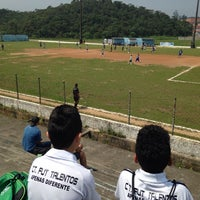Photo taken at Estádio Municipal Teixeirão by Silvia F. on 10/18/2014