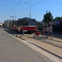 Photo taken at Nádraží Holešovice (tram, bus) by Tigra . on 9/7/2013