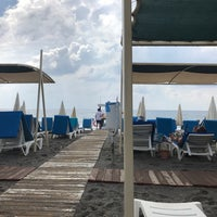 Photo taken at Azura Beach by Enes A. on 10/1/2017
