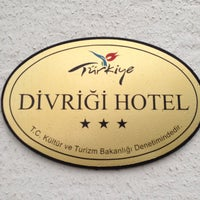 Photo taken at Divriği Hotel by Murat A. on 5/13/2015