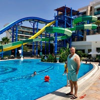 Photo taken at Crystal Waterworld Resort & Spa Aqua Park by Murat Söylemez. on 6/9/2018