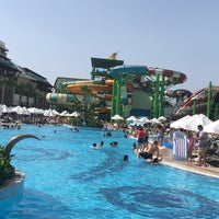 Photo taken at Crystal Waterworld Resort & Spa Aqua Park by Murat Söylemez. on 6/10/2018