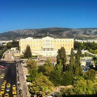 Photo taken at Syntagma Square by 🌙 Andrea S. on 7/23/2013