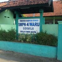 Photo taken at SMPN 4 WARU by Primitasari H. on 11/27/2012