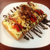 Photo taken at Renk Waffle by Renk Waffle on 12/15/2014