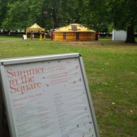 Photo taken at Grosvenor Square by DTourist F. on 7/13/2014