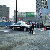Photo taken at 日曹橋交差点 by chi-MAMA S. on 9/3/2014
