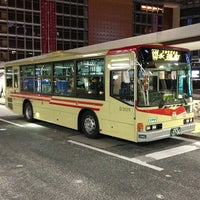 Photo taken at Shinjuku Sta. West Exit Bus Terminal by しらさぎ (. on 4/9/2013