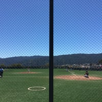 Photo taken at Cañada College Baseball Field by Desiree A. on 7/30/2016